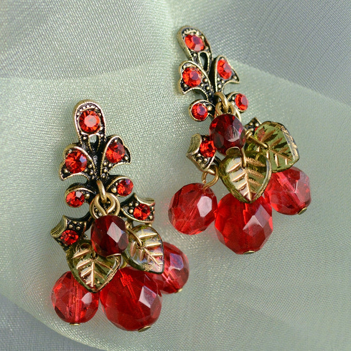 Cherries Jubilee Earrings E188
