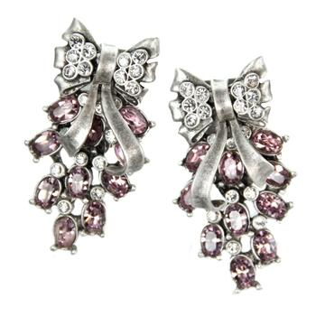 Retro Moderne Bow Clip On Earrings - Sweet Romance Wholesale