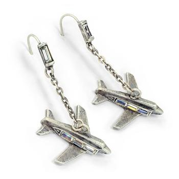 Retro Airplanes Earrings E215 - Sweet Romance Wholesale