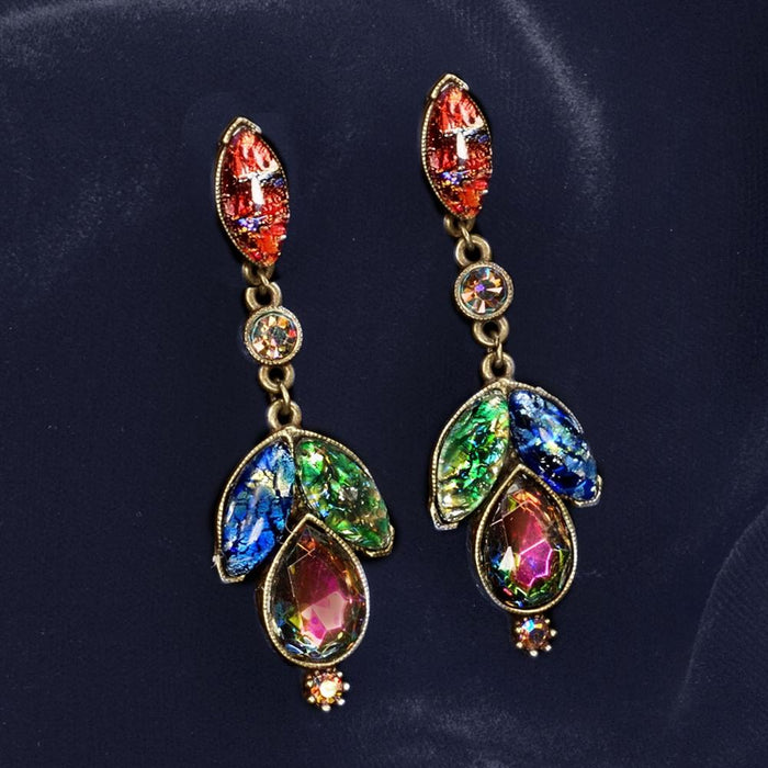 Vintage Opal Glass Earrings E3156 - Sweet Romance Wholesale