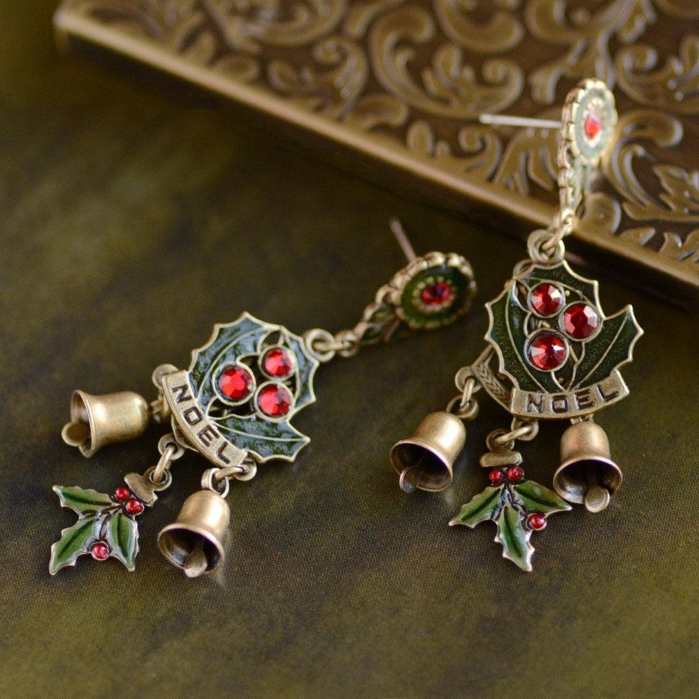 Holly Bells Earrings - Sweet Romance Wholesale