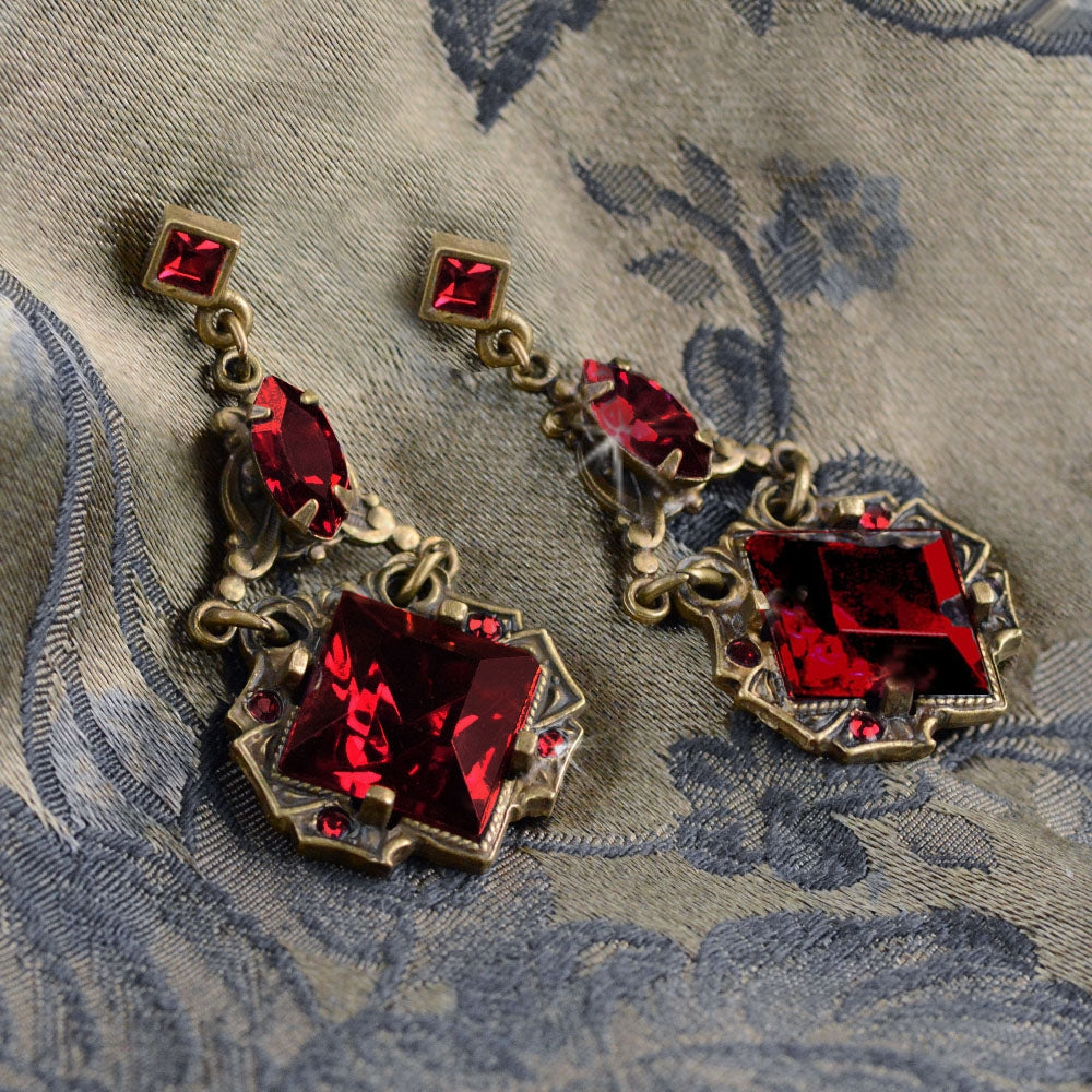 Art Deco Vintage Squares Earrings E540