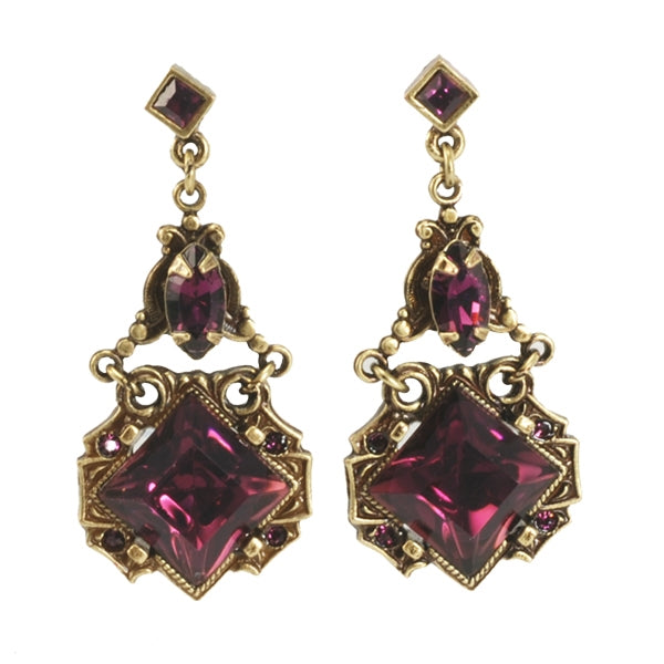 Art Deco Vintage Squares Earrings