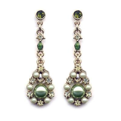 Round Pearl Drop Earrings E572-OL - Sweet Romance Wholesale