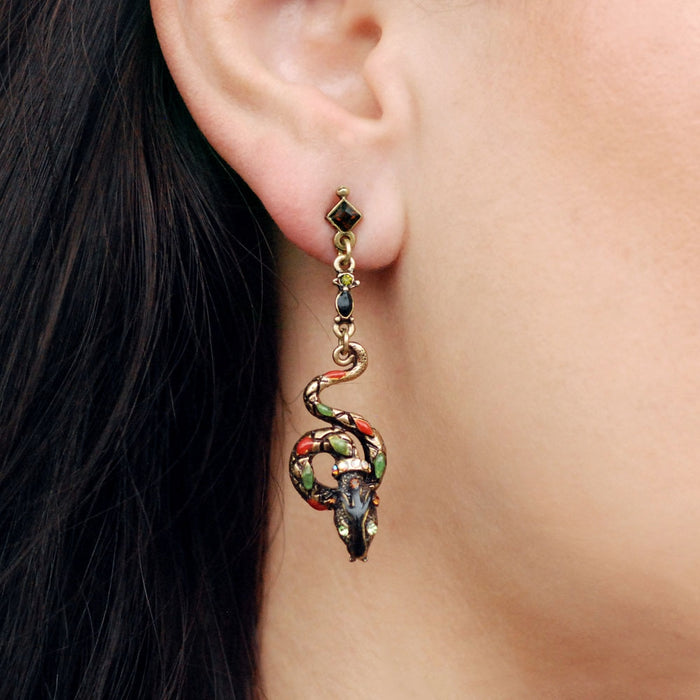 Serpents Earrings E701-AE - Sweet Romance Wholesale
