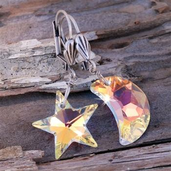 Starlight Moonlight Earrings E774 - Sweet Romance Wholesale