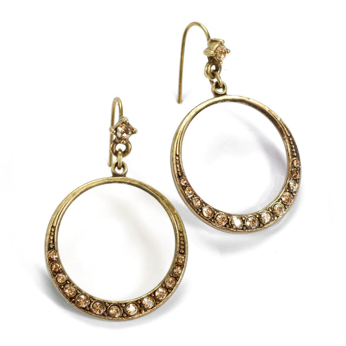 Halo Hoop Earrings E805 - Sweet Romance Wholesale