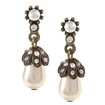 Pearl or Crystal Wedding Earrings - Sweet Romance Wholesale