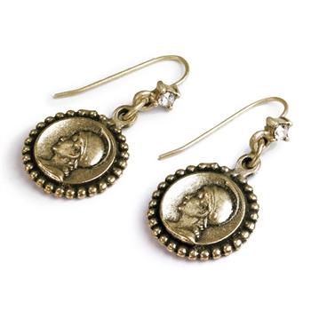 Coin Earrings E895 - Sweet Romance Wholesale