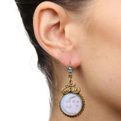 Iridescent Moon Earrings E918 - Sweet Romance Wholesale