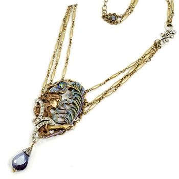 Peacock Feather Necklace - Sweet Romance Wholesale