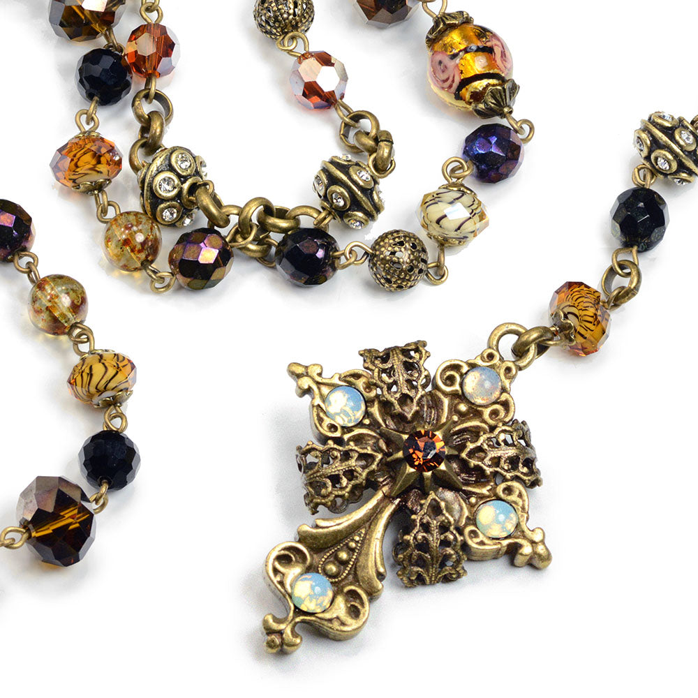 Baroque Rosary Necklace N1038