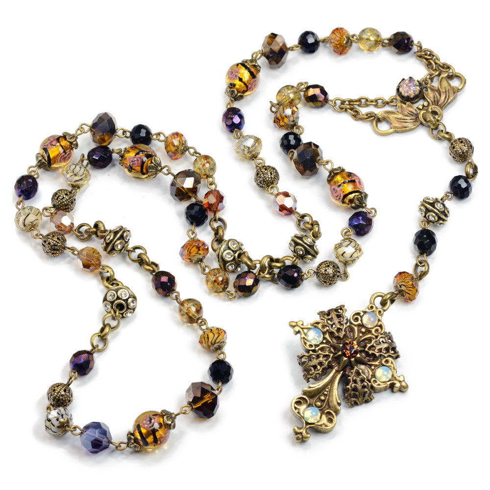 Baroque Rosary Necklace N1038 - Sweet Romance Wholesale