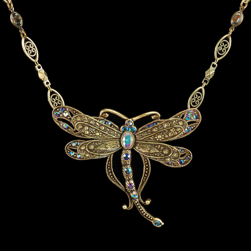 Iridescent Dragonfly Necklace - Sweet Romance Wholesale