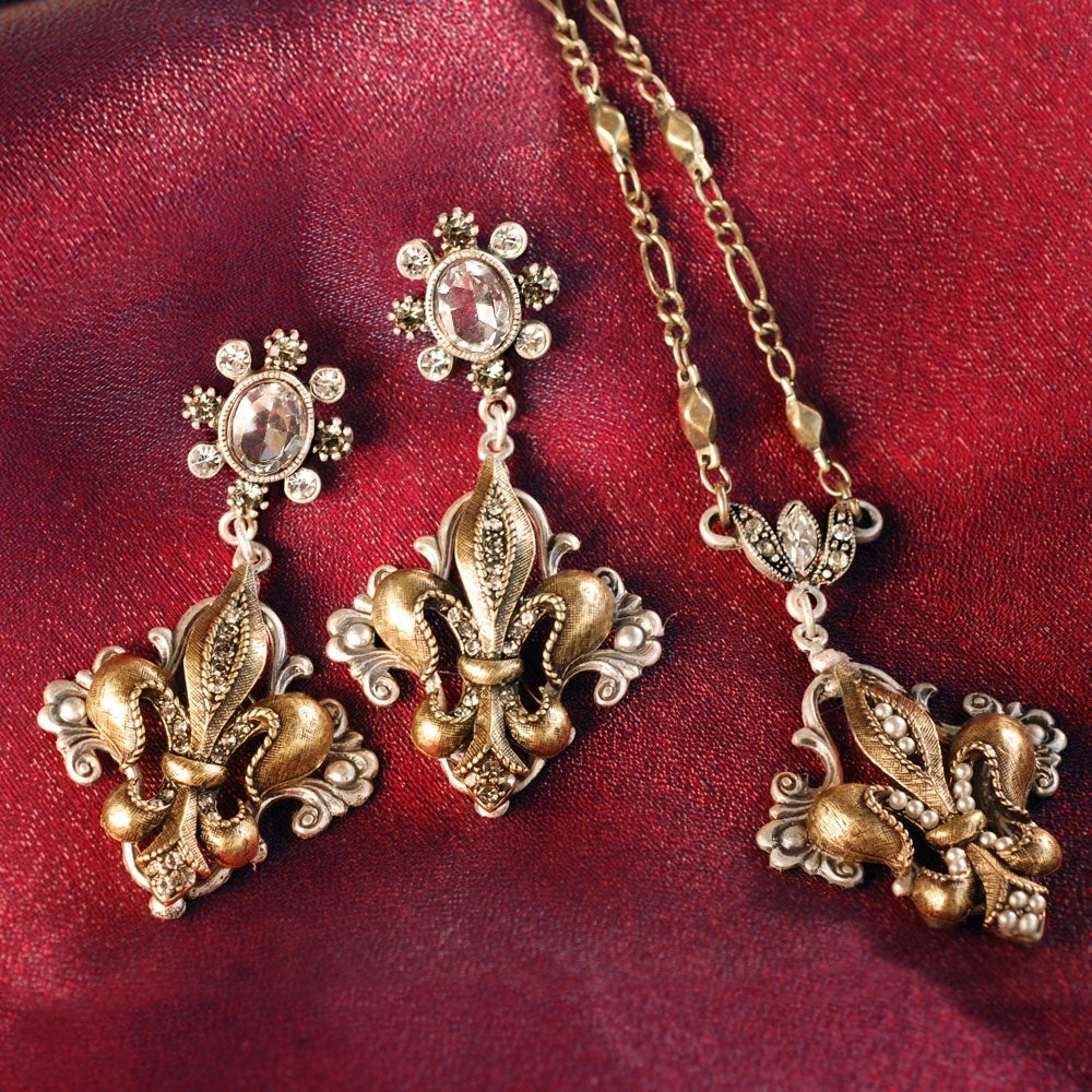 French Ritz Fleur De Lis Necklace - Sweet Romance Wholesale
