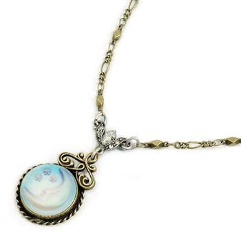 Over the Moon Necklace N1071 - Sweet Romance Wholesale