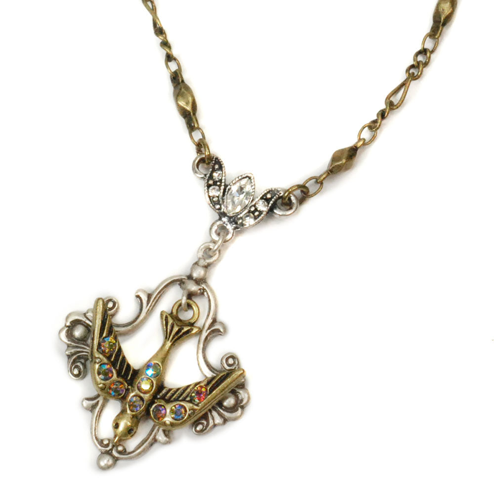 Bird Pendant Necklace N1072 - Sweet Romance Wholesale