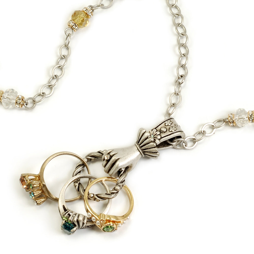 Vintage Finger Rings Necklace N1091 - Sweet Romance Wholesale