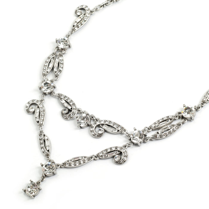 Art Deco Vintage Hollywood Crystal Necklace N1102 - Sweet Romance Wholesale