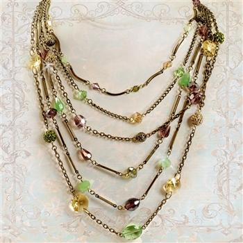 Gemstone Garden Multi Strand Necklace - Sweet Romance Wholesale