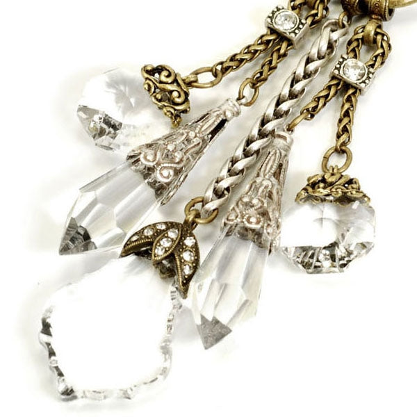 Crystal Elements Dangle Necklace N1125 - Sweet Romance Wholesale