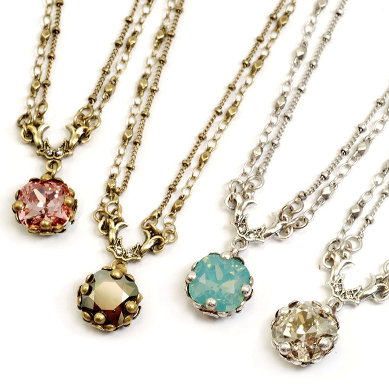 Cushion Cut Jewel Necklace N1173