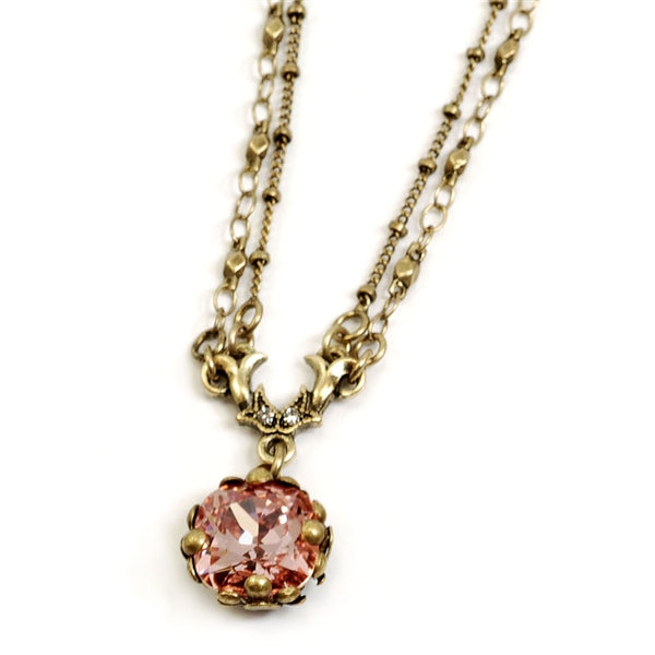 Cushion Cut Jewel Necklace N1173 - Sweet Romance Wholesale
