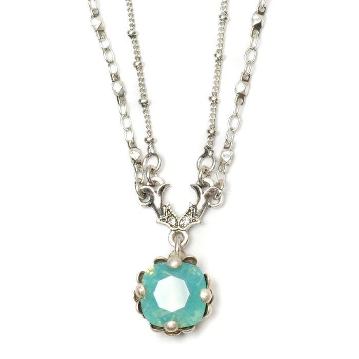 Cushion Cut Jewel Necklace