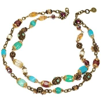 Gemstone Garden Double Strand Necklace