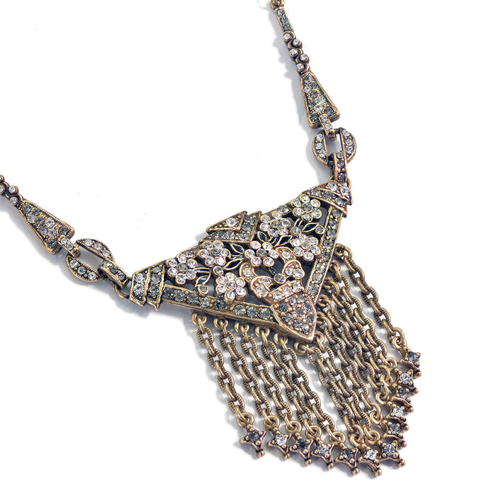Art Deco Triangle Fringe Gatsby Necklace N1204 - Sweet Romance Wholesale