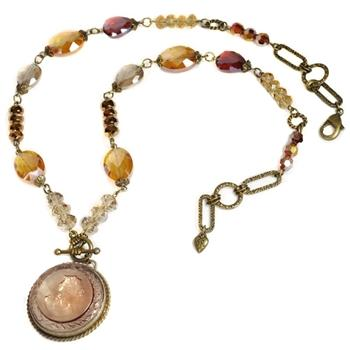 Topaz Intaglio Necklace - Sweet Romance Wholesale
