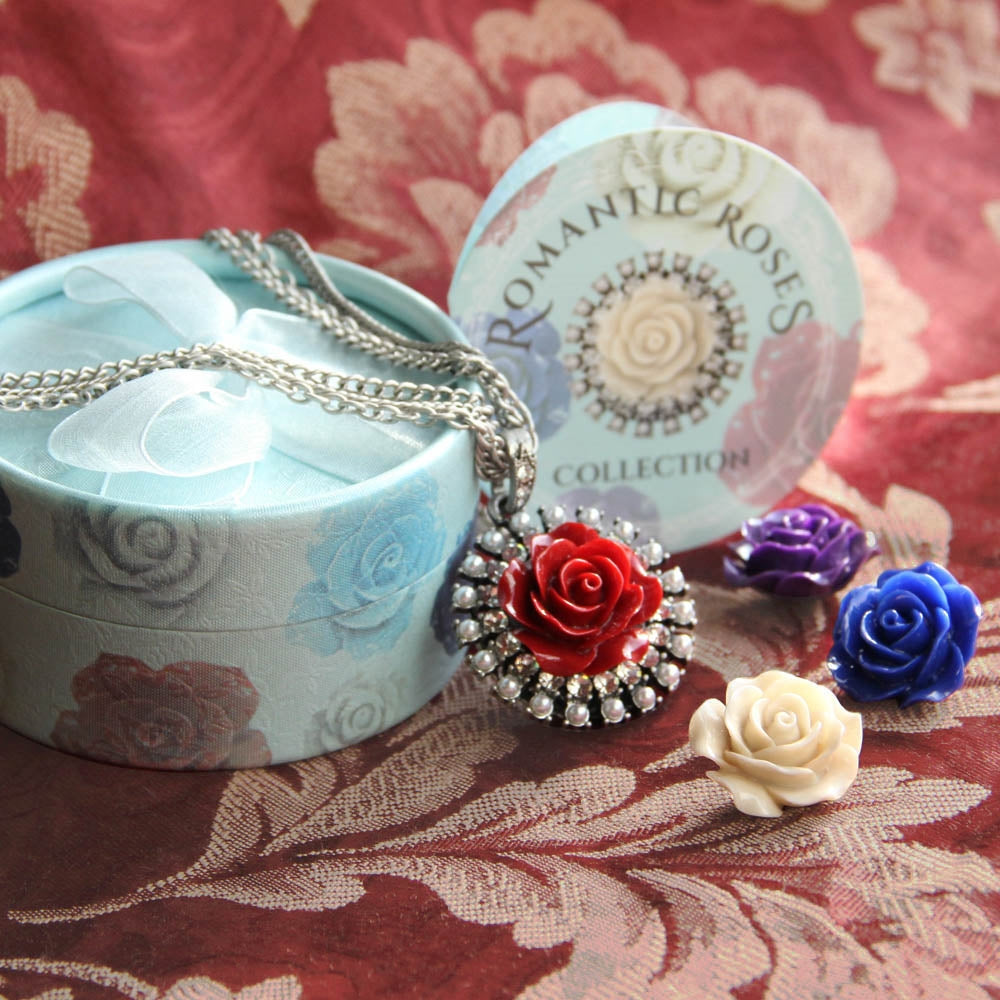 Interchangeable Roses Necklace Set N1211 - Sweet Romance Wholesale