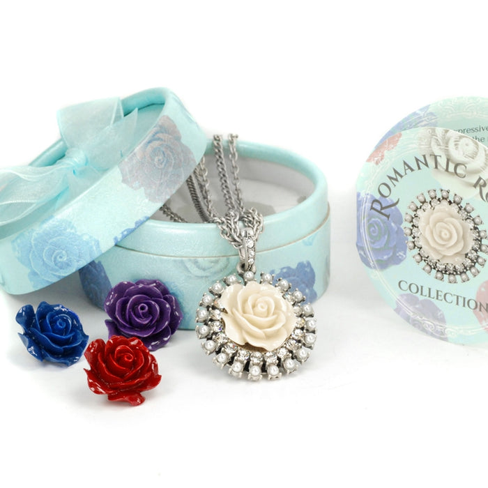 Interchangeable Roses Necklace Set N1211