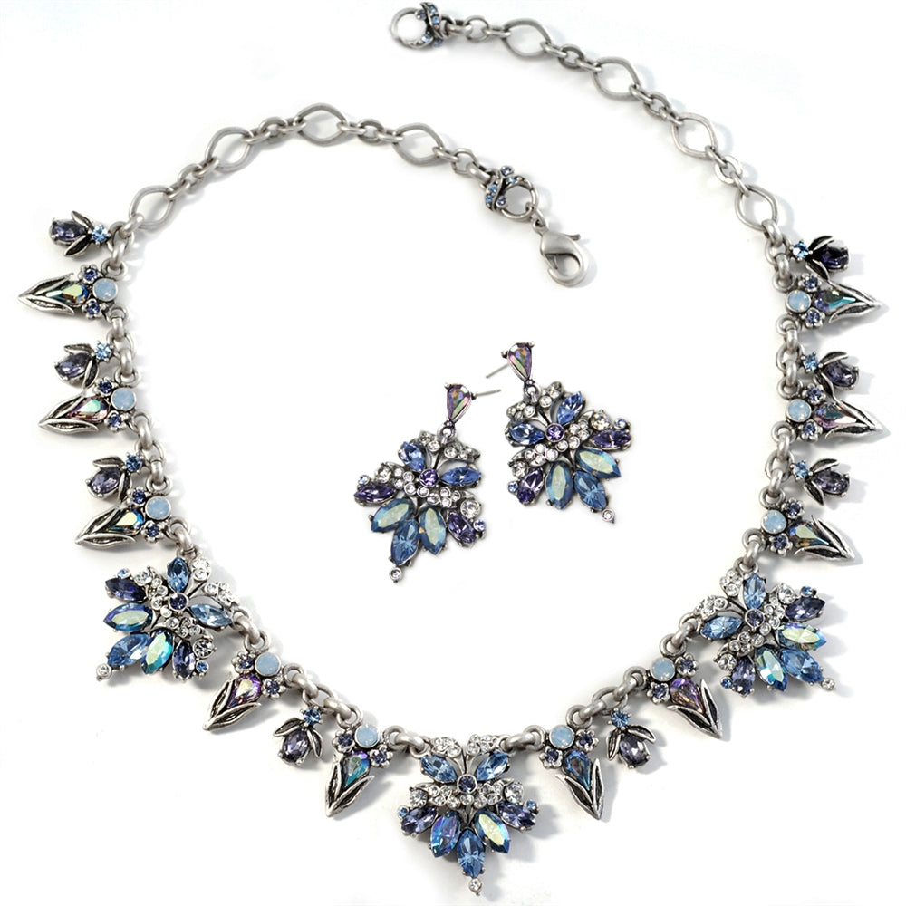 Retro 1950s Starlight Silver Necklace
