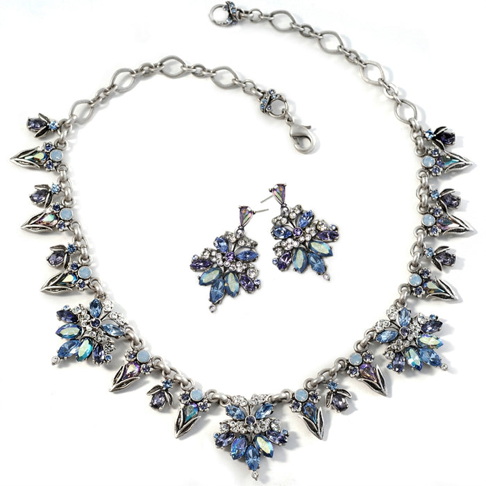 Retro 1950s Starlight Silver Necklace - Sweet Romance Wholesale