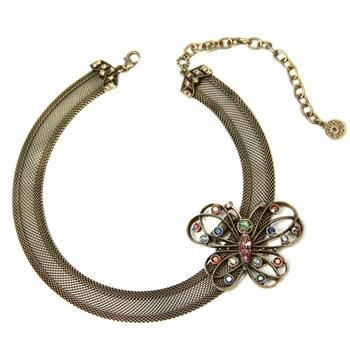 Mesh Collar Necklace with Butterfly Clip - Sweet Romance Wholesale