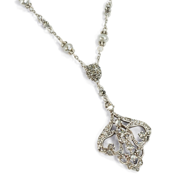 Art Deco Vintage Arabesque Wedding Necklace