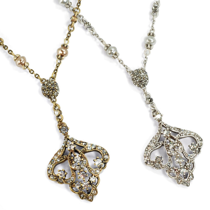 Art Deco Vintage Arabesque Wedding Necklace N1226 - Sweet Romance Wholesale