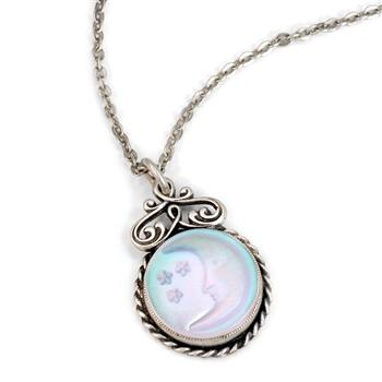 Iridescent Moon Pendant Necklace N1235 - Sweet Romance Wholesale