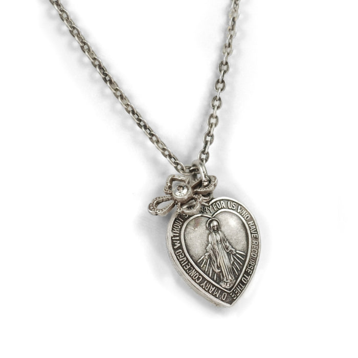 Lord's Prayer Pendant Necklace N1242-SIL - Sweet Romance Wholesale