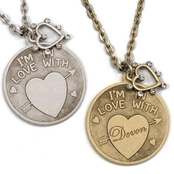 I'm in Love With Pendant Necklace N1249 - Sweet Romance Wholesale