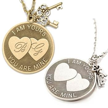 I am Yours, You are Mine Pendant Necklace N1250 - Sweet Romance Wholesale