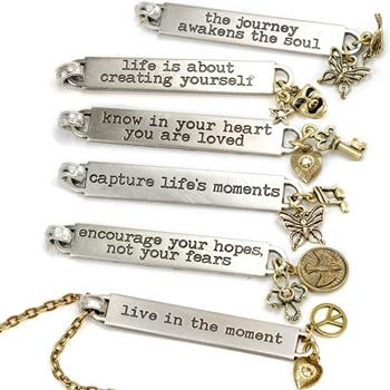 Inspirational Message Bar Necklaces N1254-65 - Sweet Romance Wholesale