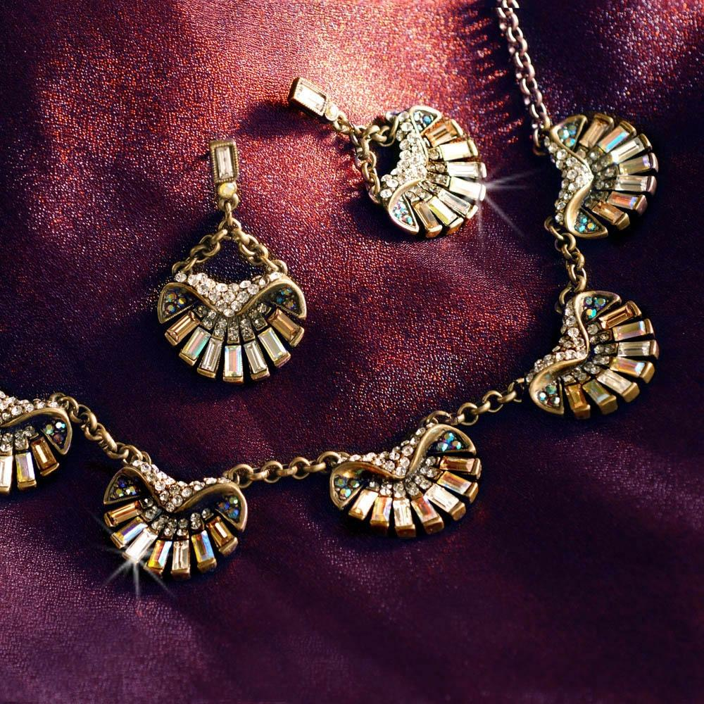 Art Deco Aurora Scallop Shell Ocean Necklace N1267 - Sweet Romance Wholesale