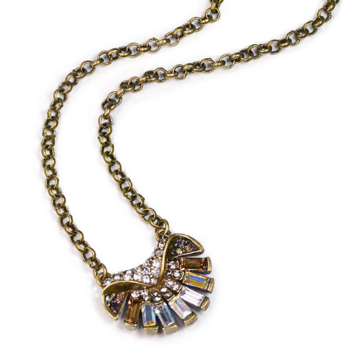 Art Deco Aurora Shell Ocean Pendant Necklace N1274 - Sweet Romance Wholesale