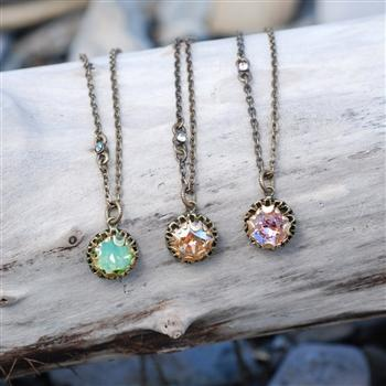 Crystal Dot Necklace N1297 - Sweet Romance Wholesale