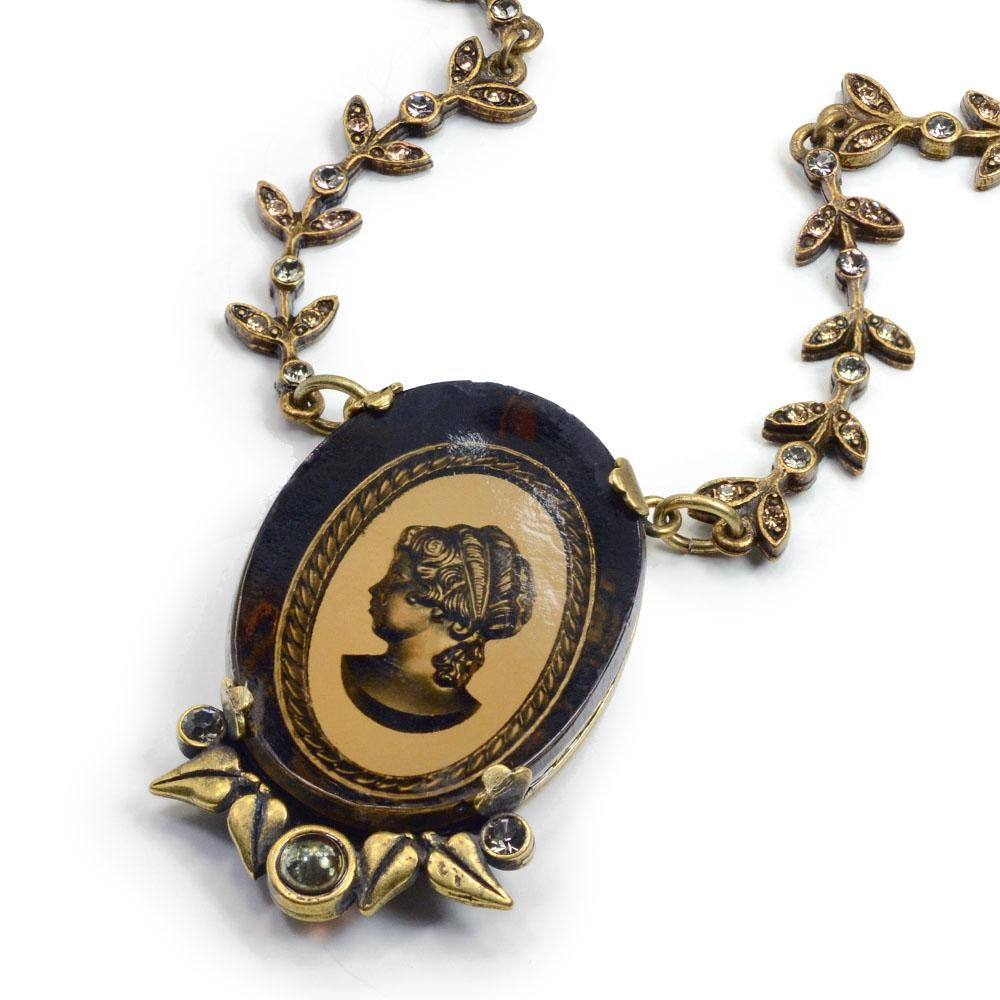 Vintage Classical Cameo Necklace N1310-BZ - Sweet Romance Wholesale