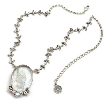 La Belle Epoch Vintage Fairy Intaglio Necklace N1310-SIL - Sweet Romance Wholesale