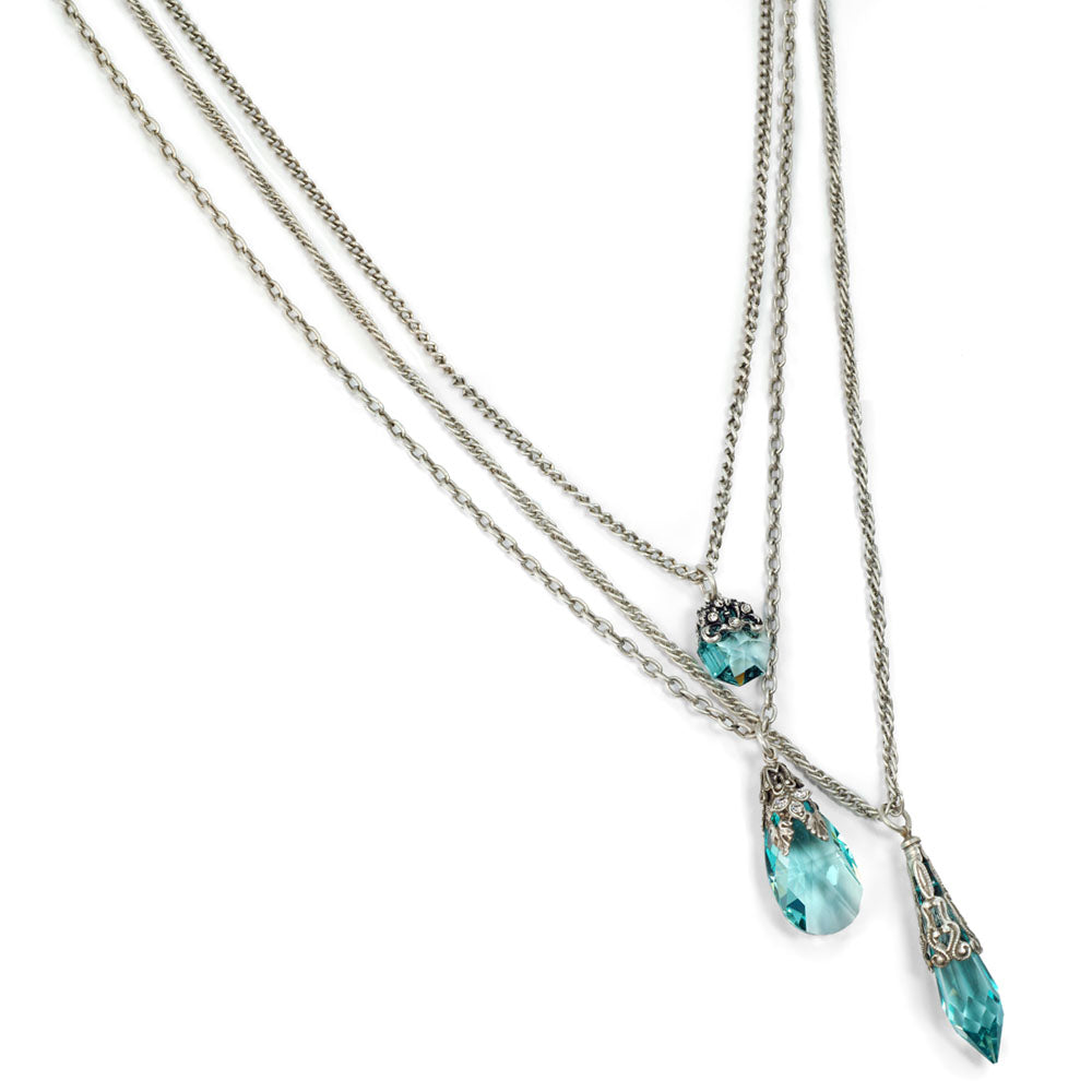 3 Strand Prism Necklace N1313