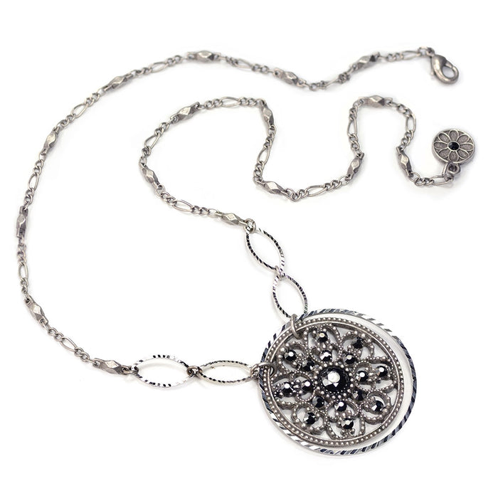 Window to the Soul Vintage Medallion Necklace N1338 - Sweet Romance Wholesale